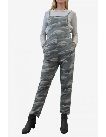Camo French Terry Overalls